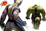 wolverine and hulk by XLR8gfx