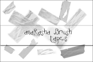 tapes_brush by anaRasha-stock