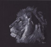Lion by bwcopy