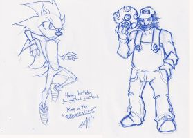 Mario and Sonic for Auronasia by Mailus
