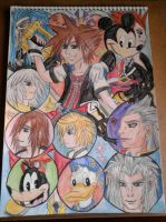 Kingdom Hearts Colage by Laineyfantasy