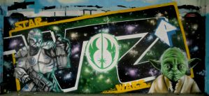 Star wars graffity whole wall by ksrp2v