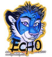 Anthrocon Badge :: Echo by cybre