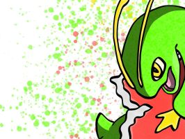 Meganium Pop art by Monnick