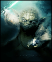 Yoda Large Art by Warriortidus
