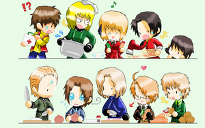 Cooking time with hetalia by EdandAlphonseBros