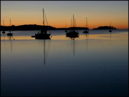 Boats in the Bay by fl8us