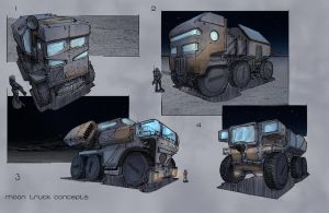 Moon truck sketches by MarkButtonDesign