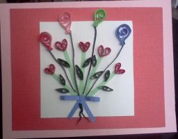 Quilled Birthday Card by staceysmile