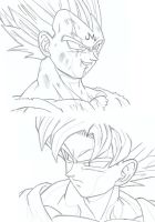 Vegeta vs. Son Goku by XxGogetaCatxX