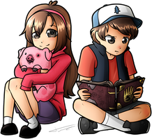 Dipper and Mabel by TVZRandomness