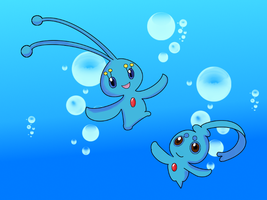 PKM: Manaphy and Phione by xor101