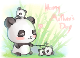 Mothers Day pandas by furesiya