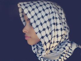 Palestine hood stock (hijab) by Desert-Winds