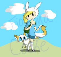 Fionna and Cake: Adventure Time by KaziaBlaze