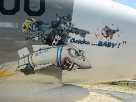 Nose Art - Gotcha ...Baby by RoadTripDog