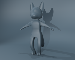 3D chibi fox .:wip:. by LeoOfTheDeaD