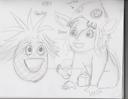 New Babies: Squishy and Drew (WIP) by AnimeFan4Eternity23