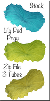 Lily Pad Tubes in Aqua, Yellow and Green by WDWParksGal-Stock