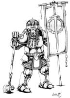 Dwarven Paladin by Spacegryphon