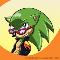 Scourge the hedgehog by Amandaxter