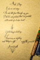 Calligrapahy Of Poems By LissieBull by Fiend-V