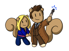 Tenth Doctor and Rose Skwrlz by kolidescope