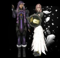 Caius and Lightning by White---Devil