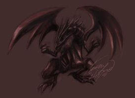 Red Eyes Black Dragon by kaminarisora