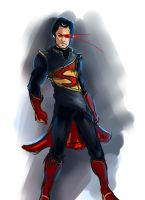 Superman redesign skratch jam by Vimes-DA