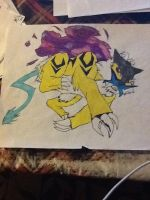 Drawing on paper 4 (Raikou) by Obsidianthewolf