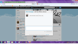 RAYWILLIAM JOHNSON MESSAGED ME by RubellaLight2012