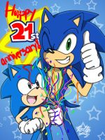 HAPPY 21ST ANNIVERSARY SONIC by ibella777