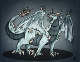 Ice dragon by giantdragon