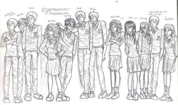 ...some of Dumbledore's Army by germaniac-brendalism