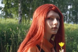 Young Uzumaki Kushina cosplay by LaynesLionRedCat