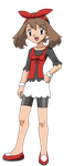 PKMN Fan artwork - May's 20 anniversary Outfit by Aquamimi123