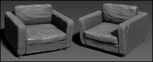 Post-Apocalyptic Armchair - Highpoly by J-L-Art