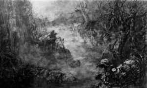 Nighttime Forest Pencil Rendering by ADakhil