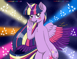 Twilight Rainbow power! by lordzid