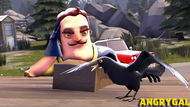 [SFM HELLO NEIGHBOR] Crow by AngryGal