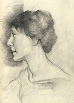 George Clausen study by Aberzheim