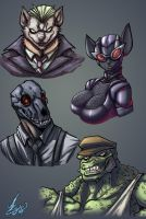 Bat Villains animalistic 2 by Jaehthebird
