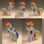 Standing Rainbow Dash Plush by WhittyKitty