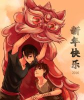 DMBJ Fanart - Happy Chinese New Year 2016 by BonBonPich