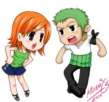 OP-Zoro X Nami SD by MONO-Land
