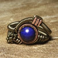 Lapis Steampunk Ring by CatherinetteRings