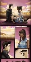 Mako and Korra after a long day. by artissx