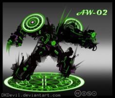 Assault Walker 02 : Neon Nightmare by DKDevil