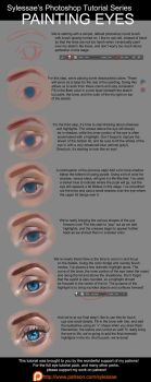 Face Tutorial Series (Painting Eyes) by sylessae